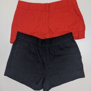 TWO J Crew Shorts Size 6